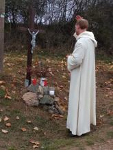 svěcení křížku nad Novou Hutí
